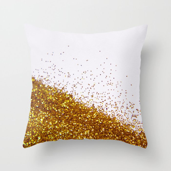 My Favorite Color II (NOT REAL GLITTER) Throw Pillow