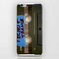 techno iPhone & iPod Skins featuring TECHNO by The Family Art Project