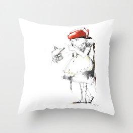 THE WARNING Throw Pillow