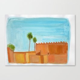 walls and palms Canvas Print