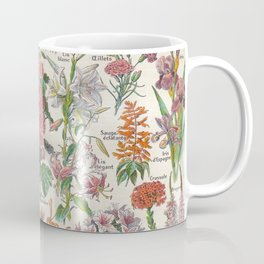 Flowers New Larousse Vintage Scientific Illustration French Language Encyclopedia Lithographs  Coffee Mug