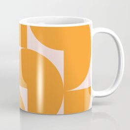 Modernist Shapes in Orange Coffee Mug