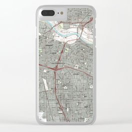 Sacramento California Map (1992) Clear iPhone Case