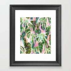 Lindsey Tropical pink Framed Art Print