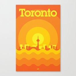 Toronto Minimalism Poster - Autumn Orange Canvas Print