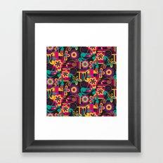 Arabesque Floral Framed Art Print