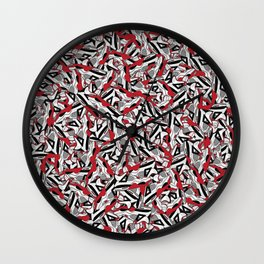 "Air Jordan 4 ""Fire Red"" Collage Print Wall Clock"
