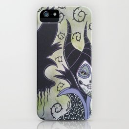 Maleficent Sugar Skull iPhone Case