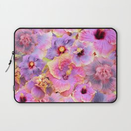Tropical hibiscus patterns Flower Floral Flowers Laptop Sleeve