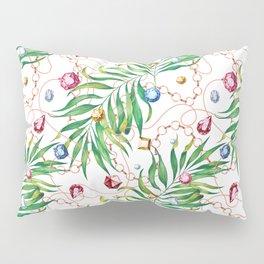 Glamorous Palm white Pillow Sham