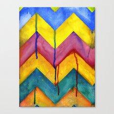 Watercolor Chevron Canvas Print
