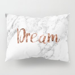 Rose gold marble dream Pillow Sham