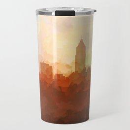 Cleveland, Ohio Skyline - In the Clouds Travel Mug