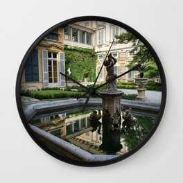 A Palace Courtyard in Italy  Wall Clock