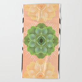 Muse Tarot's Earth Element : A succulent love Beach Towel