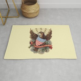 Coat of Arms of USA 1898 eagle and star badge vintage hand drawn illustration Rug