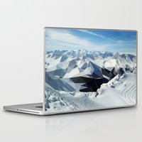 low poly Laptop & iPad Skins featuring low poly mountains by tony tudor