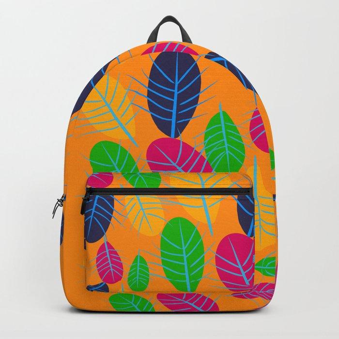 Fall Leaves Pop Pattern Design Backpack