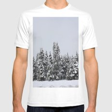 White Forest Mens Fitted Tee White MEDIUM