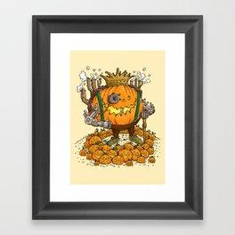 The Steampunk Pumpking Framed Art Print