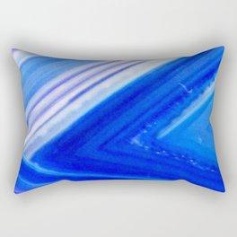 Blue Agate Stripe Rectangular Pillow