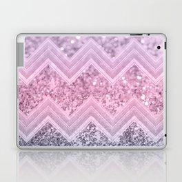 Unicorn Glitter Chevron #1 #pastel #shiny #decor #art #society6 Laptop & iPad Skin