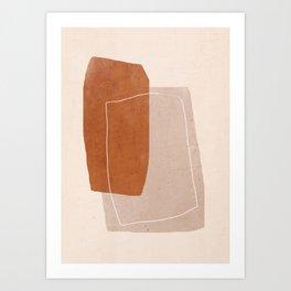 Minimal Abstract Art 24 Art Print