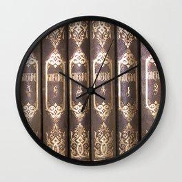 Johann Wolfgang von Goethe Prosaische und Poetische Werke Wall Clock