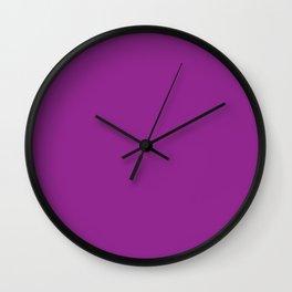 Deep Purple Fuchsia Wall Clock
