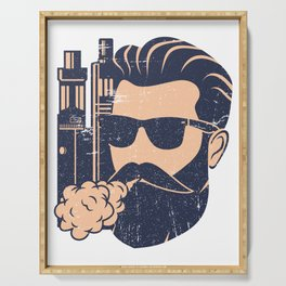 Cloud Chaser - Vaping Bearded Man Serving Tray