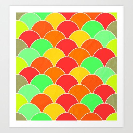 Color Sea Art Print