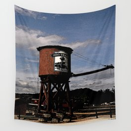 1880 Train Watertower Black Hills Abstract Wall Tapestry