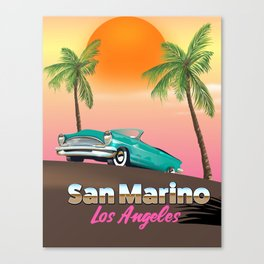 San Marino LA travel poster Canvas Print