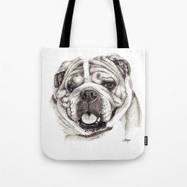 English Bulldog drawing Tote Bag