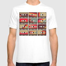 Mixed Tapes SMALL White Mens Fitted Tee