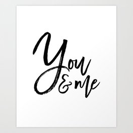 you and me embroidery wedding embroidery design ampersand applique Art Print