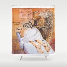 porcupunture Shower Curtain