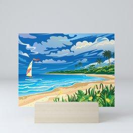 On ocean coast Mini Art Print
