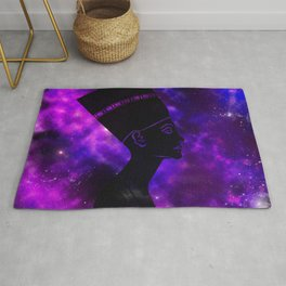 Queen Nefertiti Nebula Dark Space Skyscape Rug