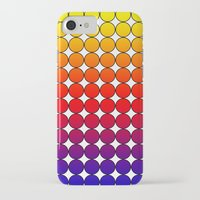 polka dot iPhone & iPod Cases featuring Rainbow Dot Candy Polka dot by ForgottenCotton