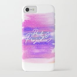 Pride & Prejudice Vibrant Quotes iPhone Case