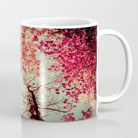 trees Mugs featuring Autumn Inkblot by Olivia Joy StClaire