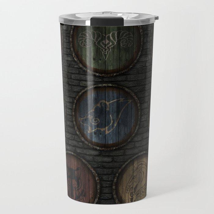Medieval Shields Travel Mug