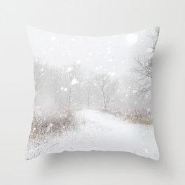 Snowplicity Throw Pillow