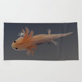 Axolotl Vector in Orange Beach Towel