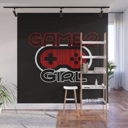 Red Gamer Girl Wall Mural