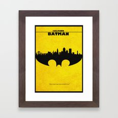 Bat Man Framed Art Print