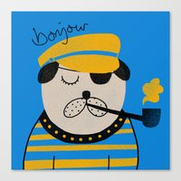 bonjour Canvas Prints featuring Bonjour by Farnell