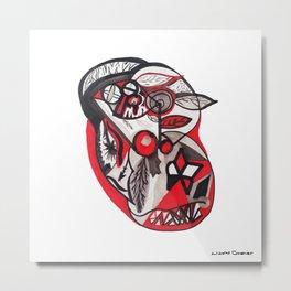 Coeur - Crayons feutres Heart. Felt-tip pen Metal Print