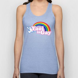 Yaoi is Gay (High Contrast Version with T-shirts) Unisex Tank Top